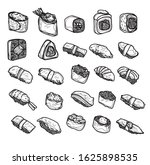 food japan set hand drawing and ... | Shutterstock . vector #1625898535