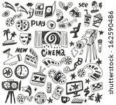 cinema doodles | Shutterstock .eps vector #162590486