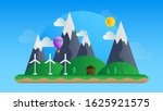 green energy background with... | Shutterstock .eps vector #1625921575