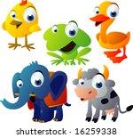 vector animal set 51  chicken ... | Shutterstock .eps vector #16259338