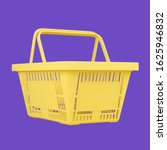 yellow empty shopping basket...   Shutterstock . vector #1625946832
