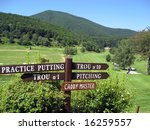 Direction Signs On Golf Course