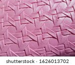 Woven Narrow Strips On A Pink...