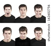 young man face expressions... | Shutterstock . vector #162602756