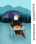 eagle diner in winter mountains   Shutterstock . vector #1626037975