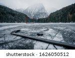 Pond Hockey On Frozen Lake. ...