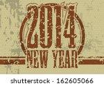 creative happy new year 2014... | Shutterstock .eps vector #162605066