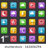 modern flat vector weather icon ...