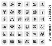 set of business people icons in ... | Shutterstock .eps vector #162606806