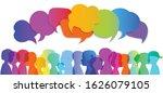 silhouette group of modern... | Shutterstock .eps vector #1626079105