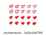 set of red hearts. symbol of... | Shutterstock .eps vector #1626106798