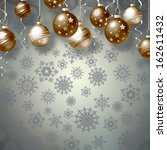 background with christmas balls ... | Shutterstock . vector #162611432