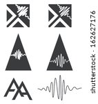 aa,abstract,art,audio,design,icon,pyramid,sound,sound-waves,vector,visual,wave,waves