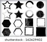 grunge shapes  | Shutterstock .eps vector #162629402