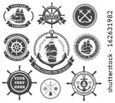 Set Of Vintage Nautical Labels...