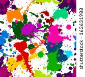 seamless colorful ink color... | Shutterstock .eps vector #162631988