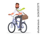 happy business man rides a... | Shutterstock .eps vector #1626352375