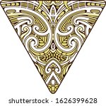 tribal ornamental tattoo in... | Shutterstock .eps vector #1626399628