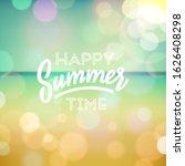 summer holidays. poster on... | Shutterstock .eps vector #1626408298