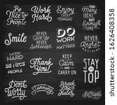 hand drawn lettering slogans.... | Shutterstock .eps vector #1626408358