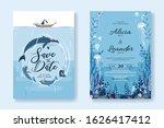 set of wedding cards ... | Shutterstock .eps vector #1626417412