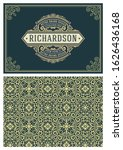 vintage greeting card with... | Shutterstock .eps vector #1626436168