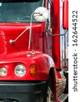 front end of a semi truck while ... | Shutterstock . vector #162644522