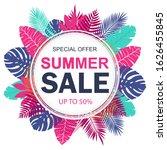 summer sale banner design for... | Shutterstock . vector #1626455845