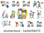 people set  young couple ...   Shutterstock .eps vector #1626456472