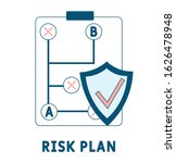risk plan icon. simple element...