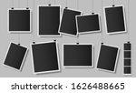 photos on clips. photo frame on ... | Shutterstock .eps vector #1626488665