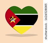 the national flag of mozambique ... | Shutterstock .eps vector #1626528085