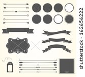 vector set of design elements | Shutterstock .eps vector #162656222