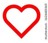 isolated heart design. vector... | Shutterstock .eps vector #1626683365