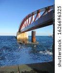 Small photo of bridge on the sea near valleta in noway