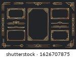 golden art deco ornaments.... | Shutterstock . vector #1626707875