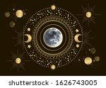 vector illustration of moon in... | Shutterstock .eps vector #1626743005