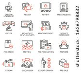 vector set of linear icons... | Shutterstock .eps vector #1626798832