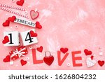 valentine hearts with cube...   Shutterstock . vector #1626804232