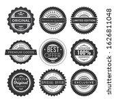 vintage premium sale badges set.... | Shutterstock .eps vector #1626811048