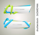 origami vector banners set  | Shutterstock .eps vector #162682466
