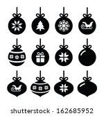 christmas ball  christmas... | Shutterstock .eps vector #162685952