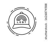 baseball hat  lgbt icon. simple ...