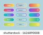 gradient buttons. web ui...