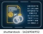 divorce neon light icon. formal ... | Shutterstock .eps vector #1626906952
