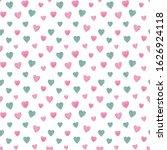 Watercolor Hearts Pattern....
