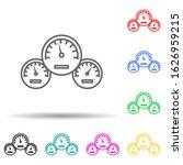 car speedometer multi color...