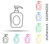 a bottle of liquid soap multi...