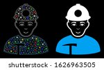 glowing mesh miner icon with... | Shutterstock .eps vector #1626963505