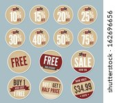 vintage retail stickers | Shutterstock .eps vector #162696656